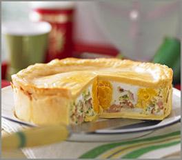 Joyzine Australian Food Recipe For Egg And Bacon Pie